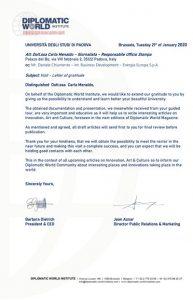 letter Diplomatic University